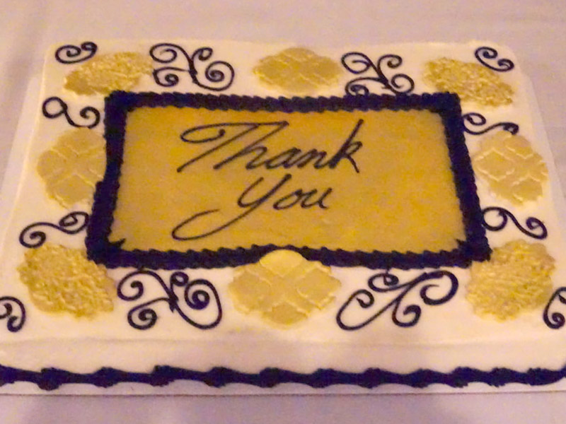 Volunteer Thank You Cake